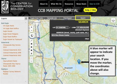 Coordinates Finder By Address Mapping Portal Information And Faq The Center For Conservation Biology