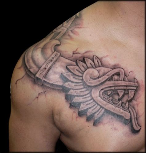 aztec shoulder tattoo aztec images designs