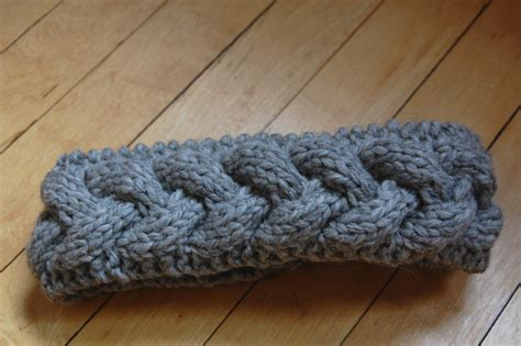 stricken muster free cable knit headband pattern