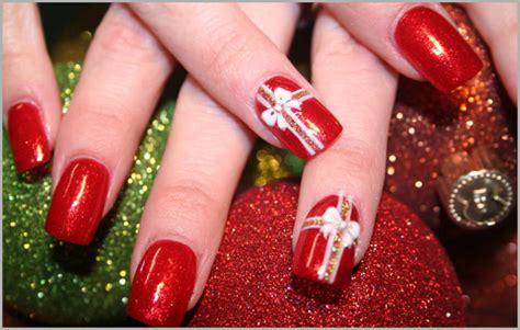 tutorial nail art natal nail art fiocco di natal fashioniamoci