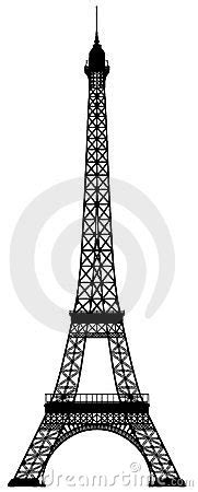 tattoo cost paris eiffel tower outline silhouette royalty free stock image