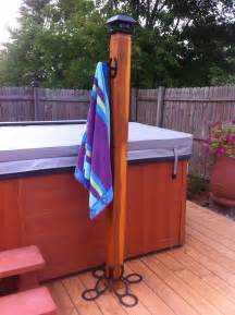 pool towel holders outdoor pin by aldrich on tub patio ideas