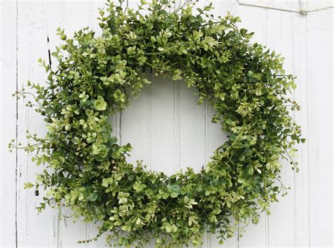 boxwood wreath green wreath farmhouse decor everyday