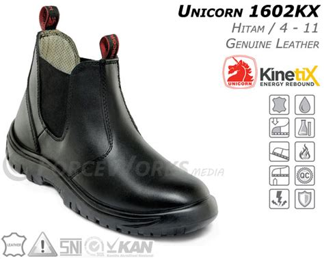 Sepatu Merk Unicorn safety shoes unicorn 1602 kx kinetix series