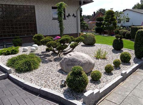 vorgarten ideen gestaltung vorgarten mit steine stein vorgarten