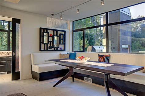 Modern Banquette by Modern Banquette Seating For Dining Room And Pillows Home Design Ideas Galleries