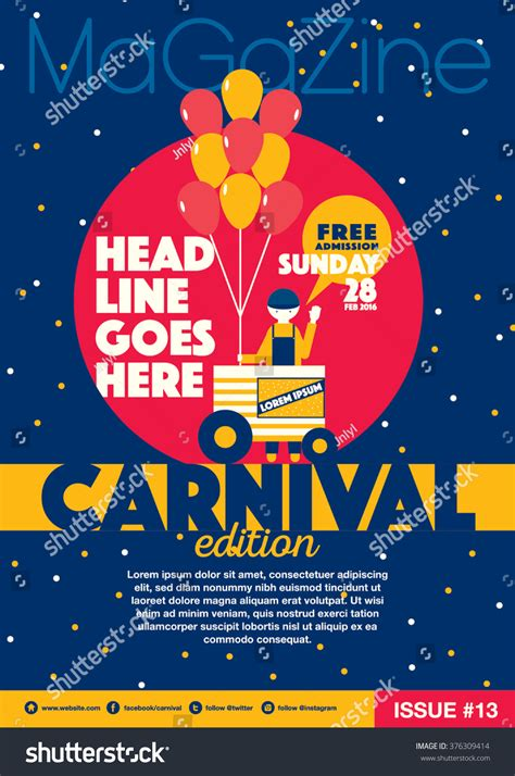 themes for poster design carnival theme magazine template design invitation stock