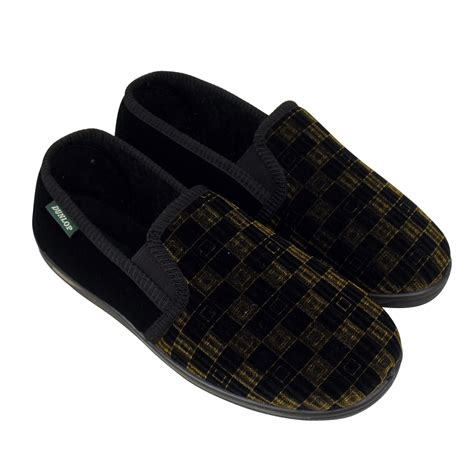 house shoes boys mens boys dunlop classic luxury twin gusset slipper gents slippers sizes uk 6 12 ebay