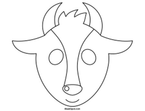 printable mask goat printable goat mask