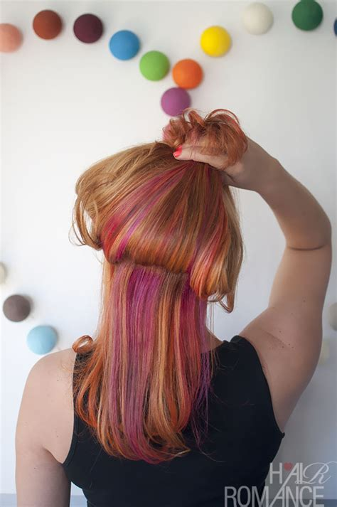hairstyle with color underneath new hair the colour mullet hair romance