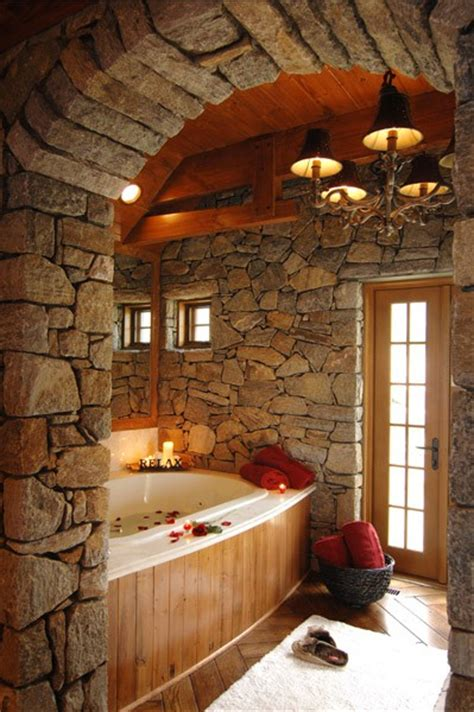 luxury rustic bathroom pinterest home decor