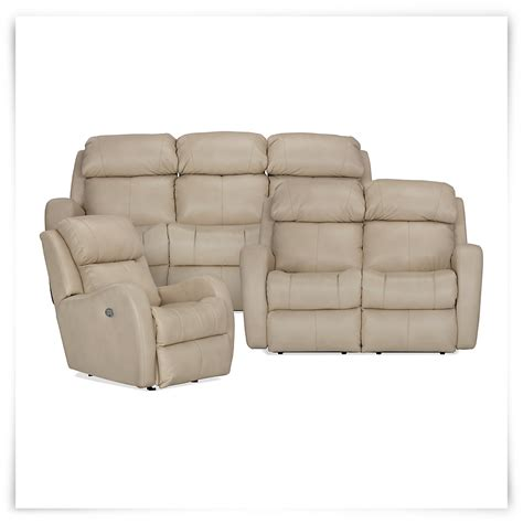 city furniture finn lt beige microfiber power reclining sofa