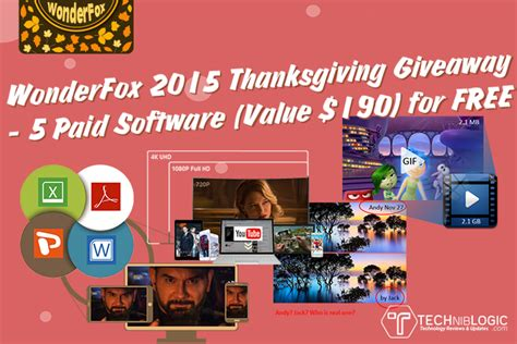 Free Software Giveaway - 5 paid software for free giveaway by wonderfox