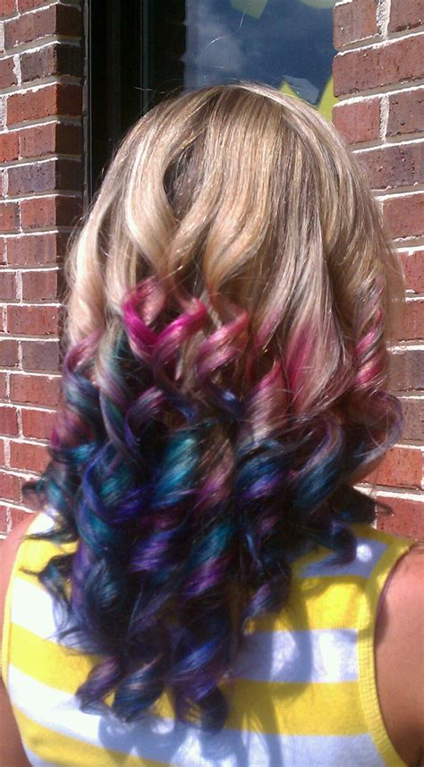 colorful ombre hair colorful ombre hair dews peacocks ombre