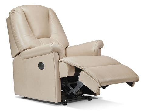 small recliner chairs uk sherborne milburn leather small recliner chair at relax