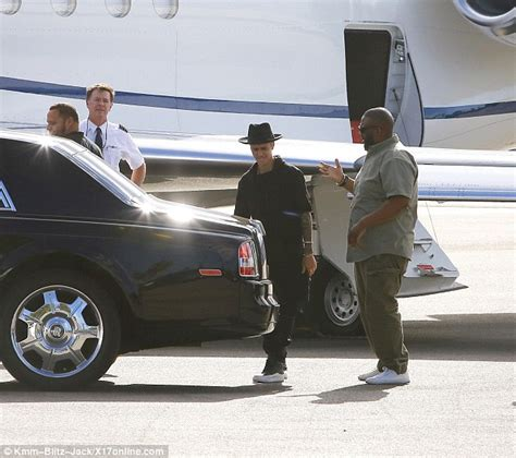 Justin Bieber Rolls Royce Justin Bieber Cruises Up To A Jet In His Gleaming