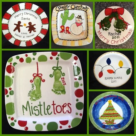 ideas for christmas plate designs custom plates painted at themadpotter houston inspiration