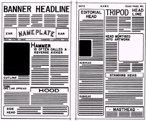 layout elements newspaper tabloid newspaper format irish media man