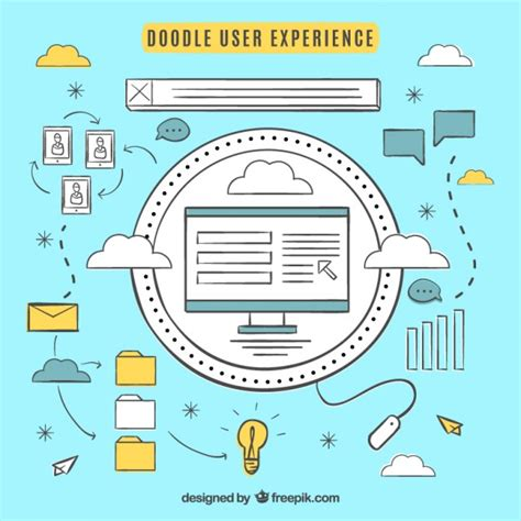 doodle users several doodles user experience accessories vector