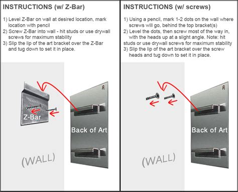 how to hang on wall how to hang metal wall mounting