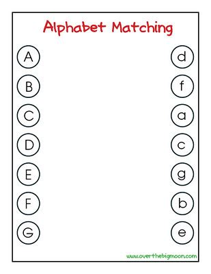 printable matching letters worksheets 9 best images of letter sound matching printables