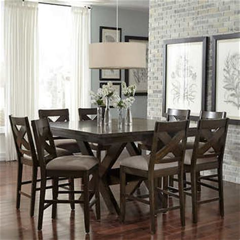 9 counter height dining room sets felicia 9 counter height dining set