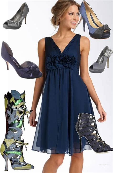 navy blue dress what color shoes all dresses