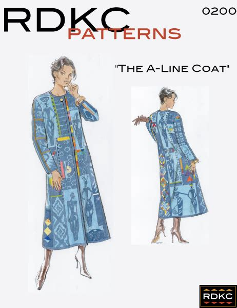 pattern for a line coat the a line coat pattern rdkc clothing for the body and