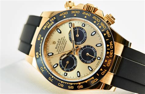 Rolex Kulit Combiyellow yellow gold cerachrom and oysterflex rolex daytona ref 116518ln on review