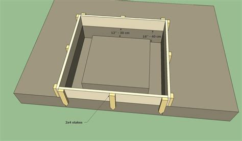 build pit base bbq pit plans howtospecialist how to build step by