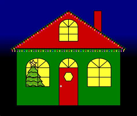 House With Christmas Lights Clipart 17 Lights House