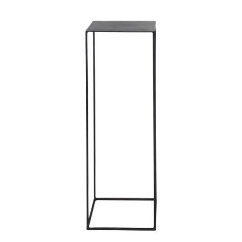 Metal industrial pedestal in black W 30cm Edison   Maisons