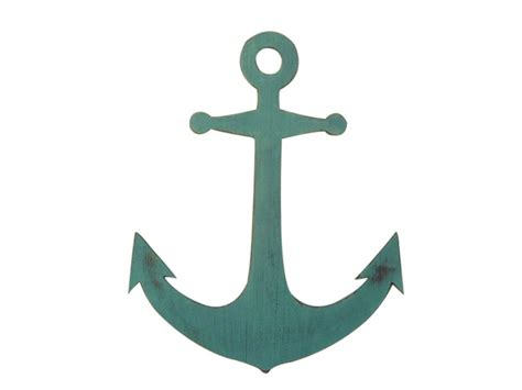 Anchor Decor by Wooden Rustic Coastal Blue Wall Mounted Anchor Decoration 30 Quot