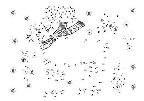 christmas jigsaw dot to dots sheet for kids połącz kropki cyferki do drukowania dla dzieci za darmo