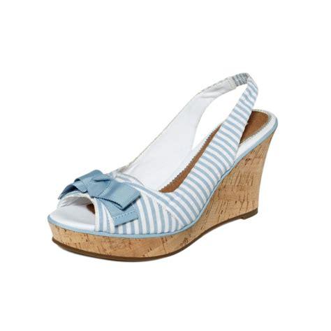 sperry top sider southsea platform wedge sandals in blue