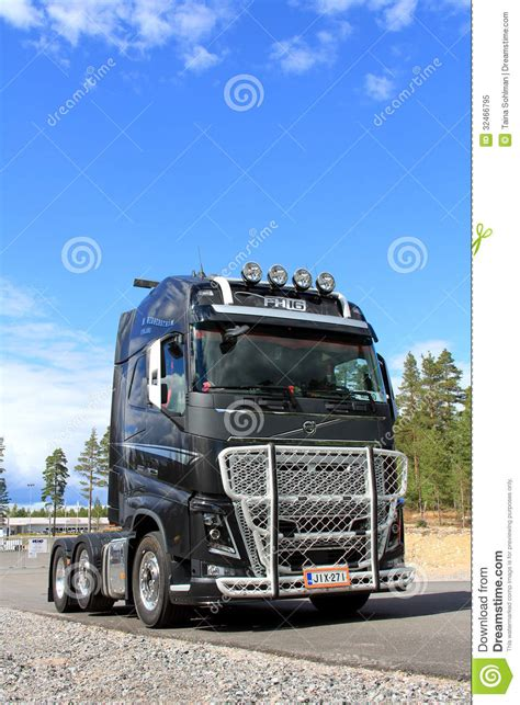 volvo fh  truck vertical view editorial image image