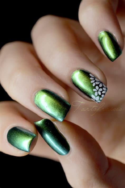 easy nail art with green and black 60 ombre nail art designs nenuno creative