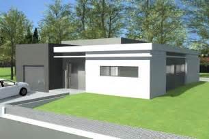 plan plain pied moderne toit plat