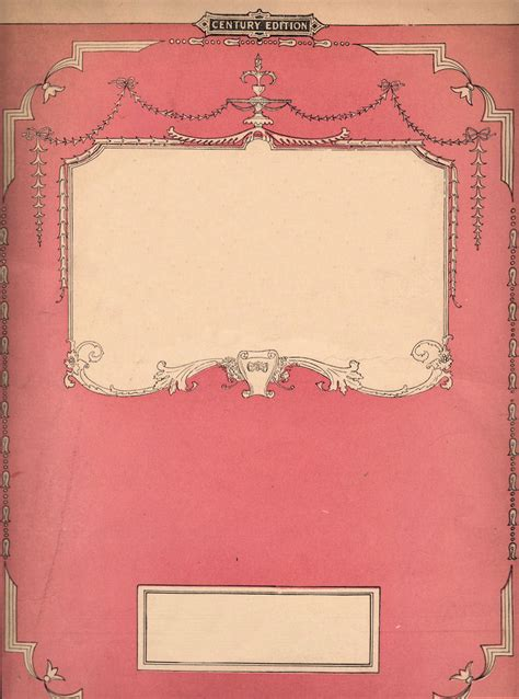 tale book cover template free vintage clip pink sheet the graphics