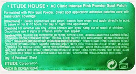Etude Ac Clean Up Spot Patch 16 Patch korean etude house ac clinic pink