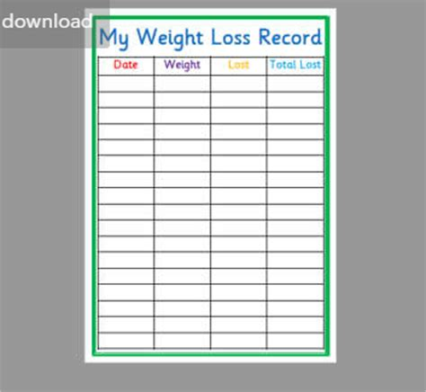 a weight loss chart 23 weight loss chart templates free excel formats