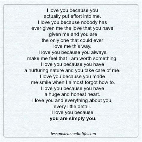 because you love to lessons learned in lifei love you because lessons