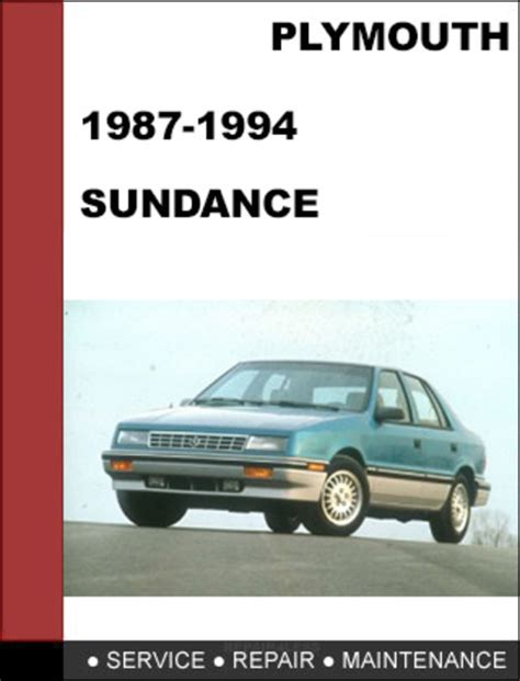 online car repair manuals free 1993 plymouth sundance electronic valve timing plymouth sundance 1987 1994 factory service workshop repair manual