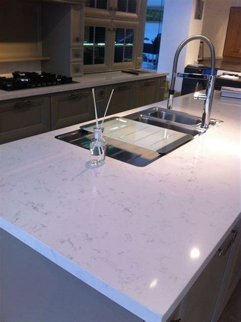 Carrara Quartz Countertop by Quartz Kitchen Countertops Carrara And We On