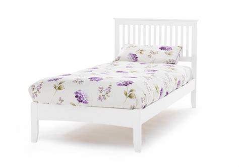 White Single Wooden Bed Frame Serene Freya 3ft Single White Wooden Bed Frame By Serene Furnishings