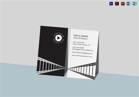 vidiq card templates producer business card template in psd word
