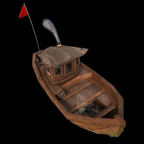 cartoon boat 3d model cartoon boat 3d asset animated cgtrader