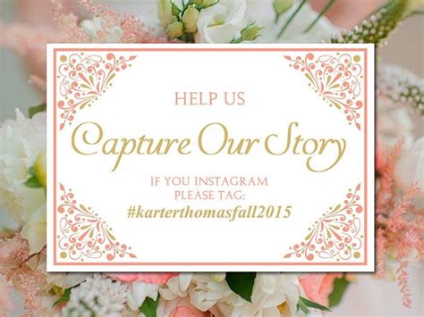 Wedding Hashtag Card Template by 1000 Ideas About Coral Gold Weddings On Coral