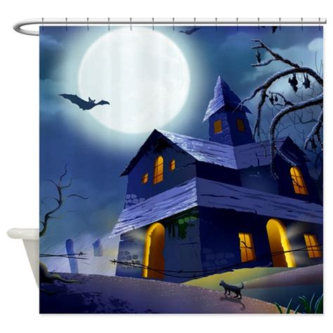 haunted house curtains haunted house shower curtain by thecafemarket