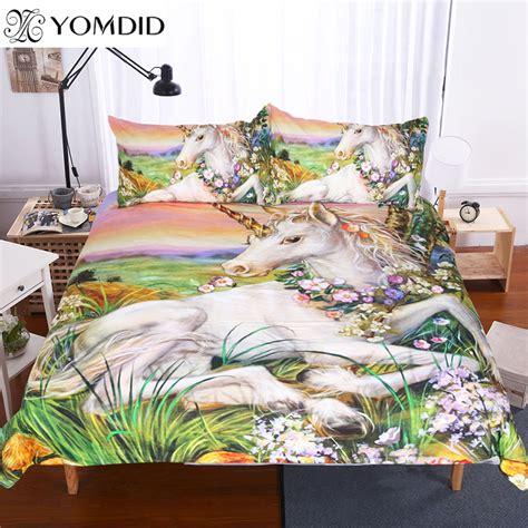 Unicorn Bedding Sets 3d Unicorn Bedding Sets King Size Painting 3pcs Bedding Set Glass Flower Duvet Cover